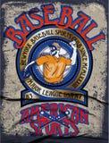 Baseball college graphics for t-shirt,baseball graphics Stock Photos