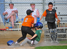 Baseball collision at home Stock Photography