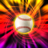 Baseball color swirl. Baseball with color swirl background Stock Images