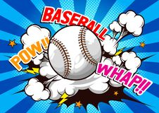 Baseball Comic speech vector illustration