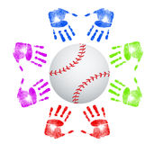 Baseball community concept Stock Images
