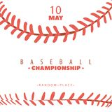 Baseball competition poster royalty free stock photos