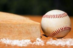 Baseball con il sacchetto Fotografia Stock
