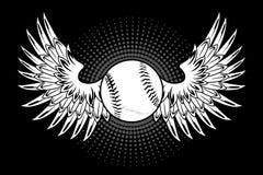 Baseball con le ali Immagini Stock Libere da Diritti