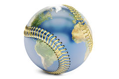 Baseball concept, 3D rendering Royalty Free Stock Photos