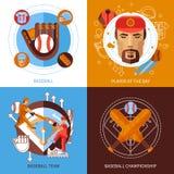Baseball Concept Icons Set Royalty Free Stock Image