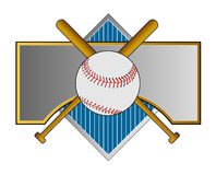 Baseball crest with bat Royalty Free Stock Photo