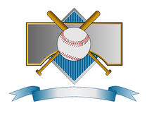 Baseball crest with bat Royalty Free Stock Image