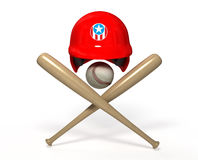 Baseball 3D objects Royalty Free Stock Images
