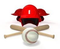 Baseball 3D objects Royalty Free Stock Photo