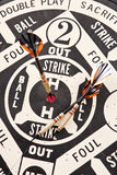Baseball Darts. Hitting a Home Run on a Baseball Dart Game Royalty Free Stock Photos