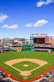 Baseball - Day Game At Nationals Park. A portrait view of Nationals Park, home of the Major League Baseball Washington Nationals, on a beautiful blue sky day in Royalty Free Stock Images