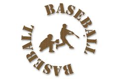 Baseball del cartone Fotografie Stock Libere da Diritti