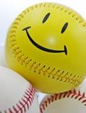Baseball del fronte di smiley Fotografia Stock