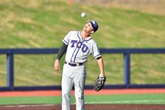 2015 baseball del NCAA - WVU-TCU Immagine Stock