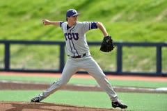 2015 baseball del NCAA - WVU-TCU Immagini Stock Libere da Diritti