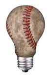 Baseball della lampadina Immagini Stock