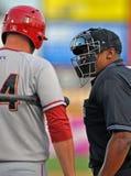 Baseball della Lega Minore - argomento dell'arbitro Fotografia Stock Libera da Diritti