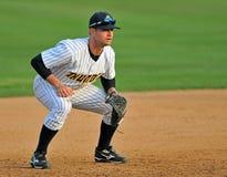 Baseball della Lega Minore - attese della terza base Immagine Stock