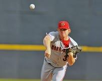 Baseball della Lega Minore - brocca Fotografia Stock Libera da Diritti