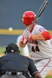 Baseball della Lega Minore - pastella alla zolla Fotografia Stock