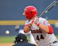 Baseball della Lega Minore - pastella alla zolla Fotografia Stock Libera da Diritti