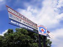 Baseball della piccola lega - segno del complesso di Al Houghton Immagini Stock Libere da Diritti