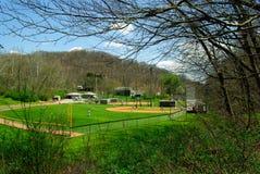 Baseball della sorgente Fotografia Stock Libera da Diritti
