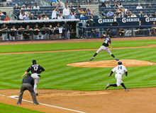 Baseball delle yankee del Colorado Montagne Rocciose x New York Fotografie Stock