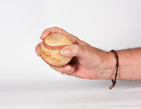 Baseball in der Hand Lizenzfreie Stockfotos
