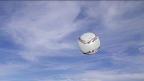 Baseball in der Rotation, die von rechts nach links in Zeitlupe überschreitet vektor abbildung