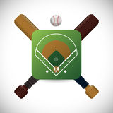 Baseball design Royalty Free Stock Image