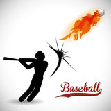 Baseball design. Baseball digital design, vector illustration 10 eps graphic Royalty Free Stock Image