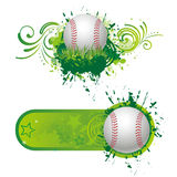 Baseball design elements Royalty Free Stock Image
