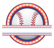 Baseball Design - Red White and Blue Stock Photo