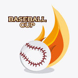 Baseball design. sport concept. Flat illustration Royalty Free Stock Photo