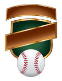 Baseball Design Template Shield Stock Photography