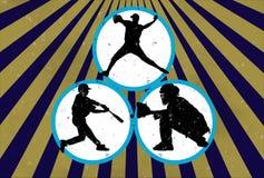 Baseball di Grunge Fotografie Stock