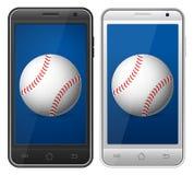 Baseball di Smartphone Immagine Stock