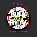 Baseball di vendita di Black Friday Immagini Stock Libere da Diritti