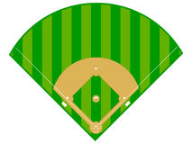 Baseball Diamond. An illustration of a typical baseball field layout vector illustration