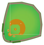 Baseball Diamond. A realistic baseball diamond that would be found in all levels of college and pro baseball Royalty Free Stock Photos