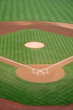 Baseball Diamond. A baseball diamond is deserted before a game Stock Photos