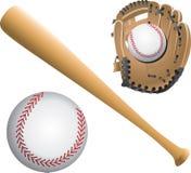Baseball diamonds, balls, and bats Stock Photography