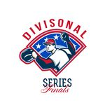 Baseball Divisional Series Finals Retro Stock Image