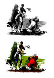 Baseball Double Play. Sketch Illustration of Baseball Double Play Stock Photos
