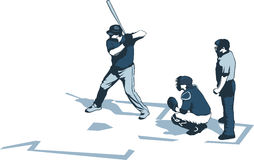 Baseball drawing Royalty Free Stock Images