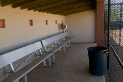 Baseball Dugout. With Benches and Fan stock photos