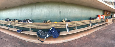 Baseball Dugout stock image