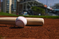 Baseball e blocco Fotografia Stock